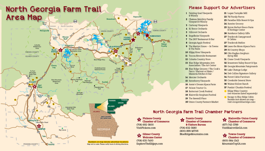 Farm Trail 2015 Area Map