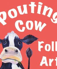 Pouting Cow Folk Art